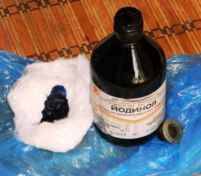 Dosierung von Iodinol